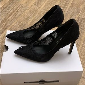 Aldo Alerrawia Black Lace Pumps Heels 6
